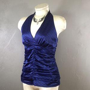 Express Design Studio royal blue halter top